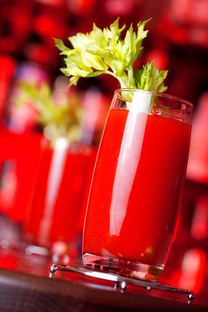 bloody mary cocktail: Bloody Mary cocktail in closeup shot