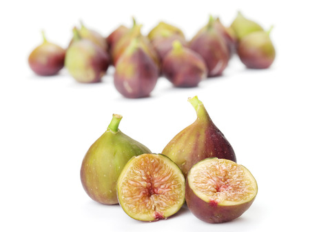 clr: Figs isolated in white  Stock Photo