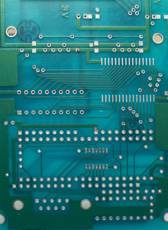 circuitboard: Circuit board close-up Stock Photo