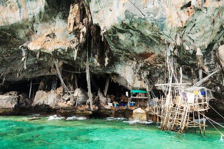 andaman sea: A cave in Koh Lao Liang Tai island in Andaman Sea near Phuket