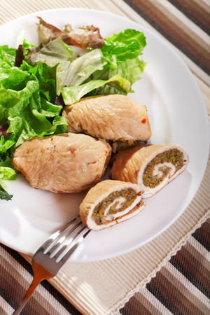 roulade: Turkey roulade with herbs and nuts