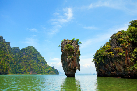 holiday movies: Khao Phing Kan is a pair of islands on the west coast of Thailand, in the Phang Nga Bay, Andaman Sea, near Phuket.