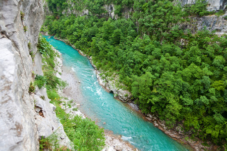 tara: Aerial view of Tara River Canyon, Montenegro