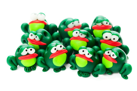 Frogs made of polymer clay