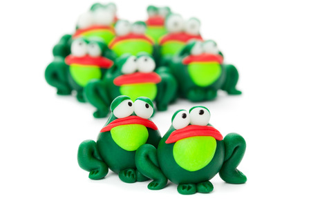 polymer: Frogs made of polymer clay