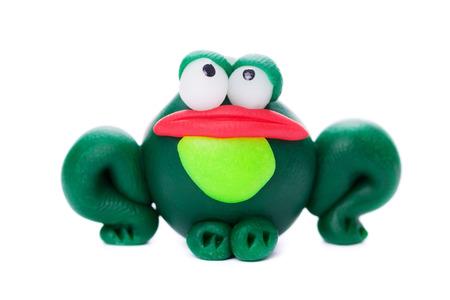grenouille: Frog fait d'argile polym�re Banque d'images