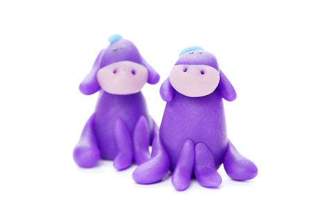 donkey: Donkeys made of clay