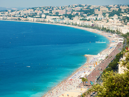 nice weather: Nice, French Riviera viewed from the high Castle Hill