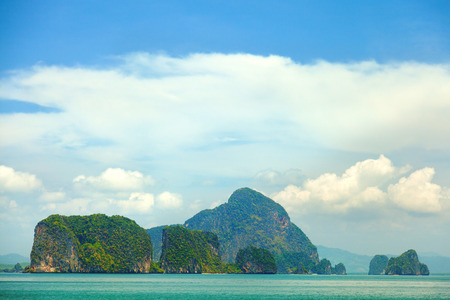 phang nga: Small islands at Phang Nga archipelago near Phuket, Thailand