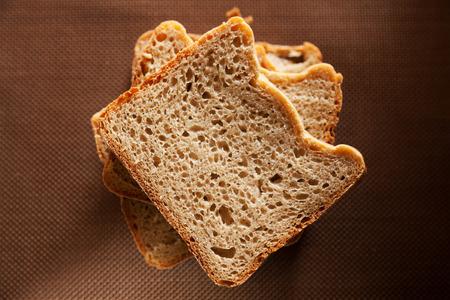 rye bread: Homemade rye bread isolated Stock Photo
