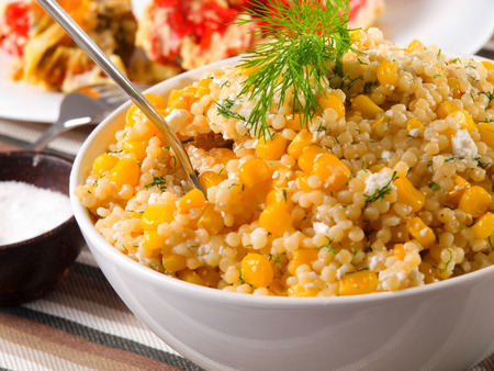 the corn salad: Quinoa with corn salad