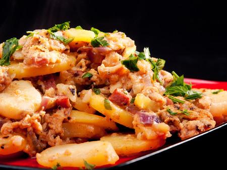 casserole: Potato casserole Stock Photo