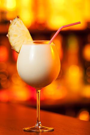 pina: Pina Colada cocktail Stock Photo