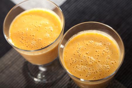 non alcoholic: Avocado and citurs smoothie Stock Photo