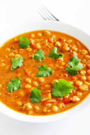 masala: Channa Masala isolated on white
