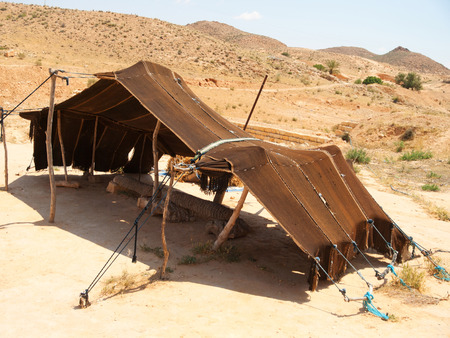 matmata: Tent In The Sahara Desert near Matmata, Tunisia