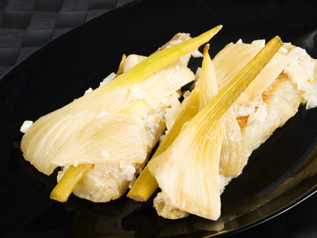 whitefish: Baked whitefish with fennel