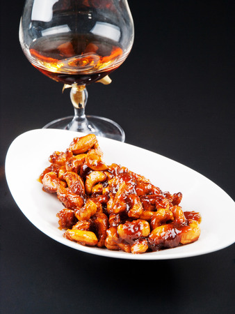 candied: Candied almonds with cognac