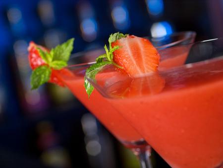 daiquiri: Strawberry Daiquiri cocktail Stock Photo