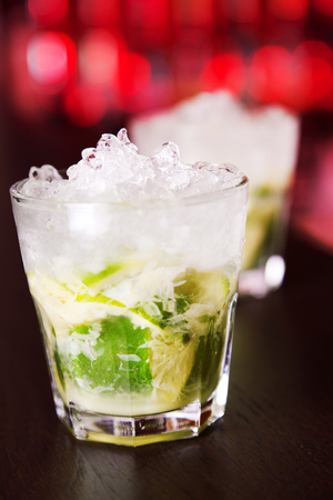 caipirinha: Caipirinha cocktail Stock Photo