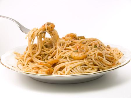 angel hair: Espaguetis cabello de �ngel con gambas