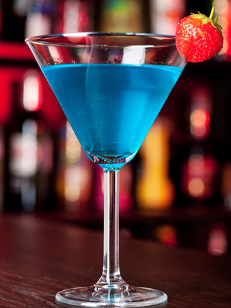 curacao: Ingredients:   blue curacao   pernod Stock Photo