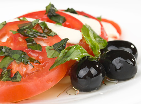 fullframe: Caprese Salad isolated in white