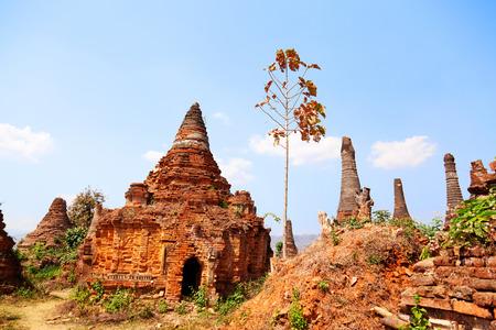 sagar: Stupas in Sagar near Lake Inle, Myanmar