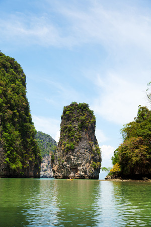 holiday movies: Khao Phing Kan pair of islands on the west coast of Thailand Stock Photo