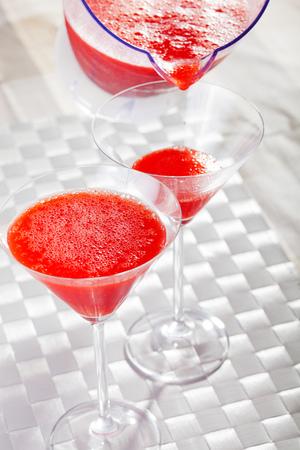 daiquiri: Strawberry Daiquiri Stock Photo