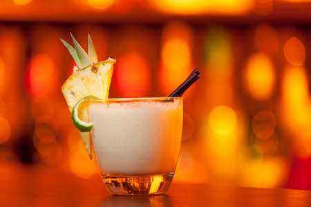 pina colada: Pina Colada on a bar