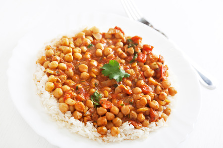 masala: Channa Masala over steamed rice