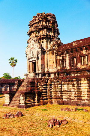 front view: Front view of Angkor wat temple in Cambodia