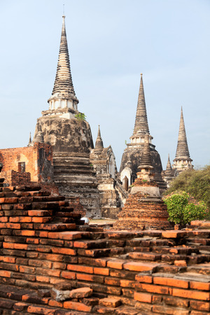 ayuthaya: Close up of Wat Phra Si Sanphet, Ayuthaya, Thailand Stock Photo