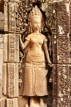 apsara: Apsara carving, Angkor wat, Cambodia