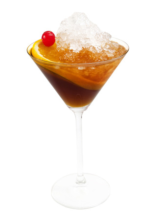 The Manhattan has been called a drinking mans cocktail — strong, urbane and simple — but it has not achieved the recognition of the more widely known martini.  Ingredients: 34 oz sweet vermouth 2 12 oz bourbon whiskey 1 dash Angostura bitters 1 mar