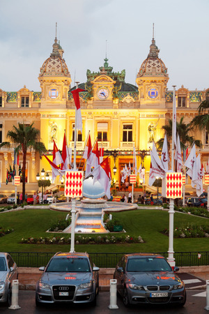 Monaco, Monaco - June 30, 2011 : Monte Carlo casino at dusk. The casino was opened in 1856 when the reigning Monaco?s family was almost bankrupt. They decided to save the kingdom by establishing a large German style casino. The casino hadnt enjoyed much