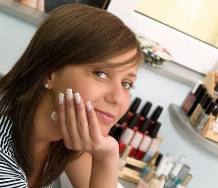 beauty center: Girl at the Beauty Center Stock Photo