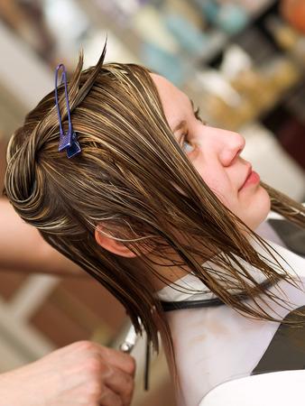 cutting hair: Cutting hair at the hair studio