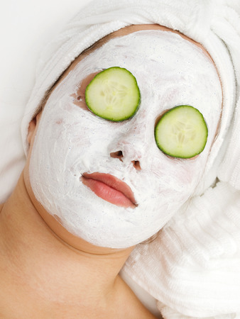 facial: Facial mask Stock Photo