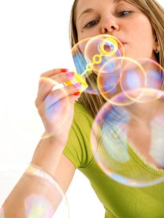 blowing bubbles: Blowing bubbles