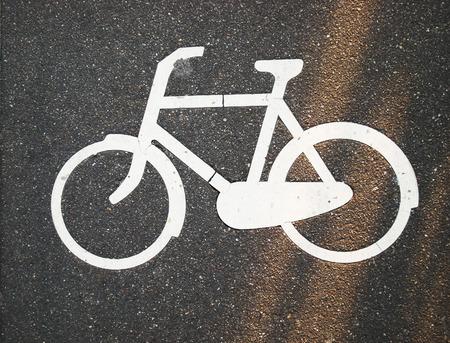 bike lane: Bike lane shot from above Stock Photo