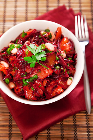 Tomato and beetroot salad Stock Photo