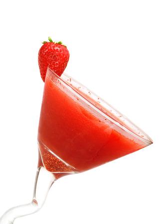 daiquiri: Strawberry Daiquiri isolated on white background Stock Photo