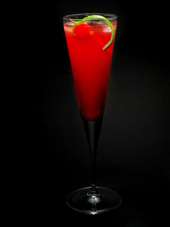 grenadine: Cherry Vodka is made of  1 part sweet and sour mix 1 part vodka 1 tbsp grenadine syrup Stock Photo