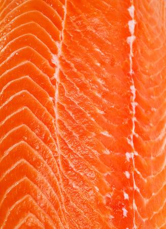 unprepared: Salmon Steak (unprepared) macro Stock Photo