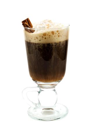 irish culture: Irish Coffee is made of coffee, irish whiskey and light cream, garnished with cinnamon sticks