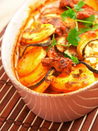 casserole: Potato and zucchini casserole