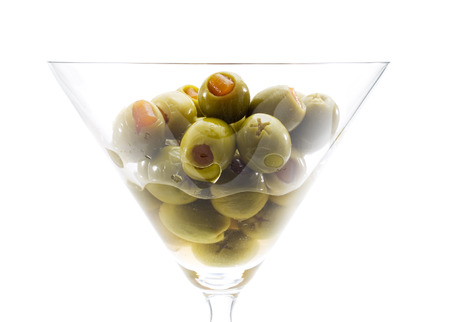 sweet vermouth: Martini Glass with Olives