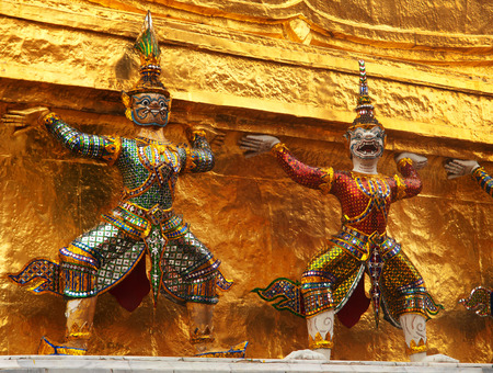 kaew: Wat Phra Kaew is also known as Temple of the Emerald Buddha which is the most sacred Buddhist temple in Thailand Stock Photo